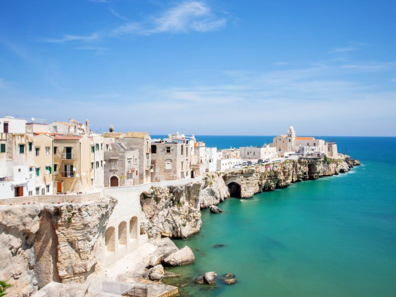 View of Vieste, Italy.