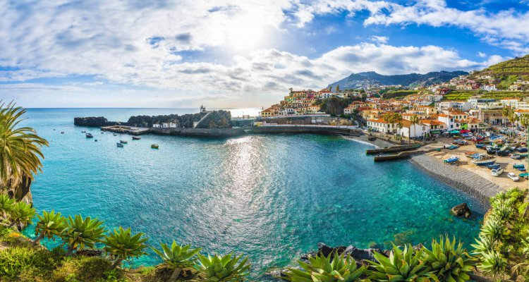 Camara de Lobos, harbor and fishing village, Madeira island, Portugal